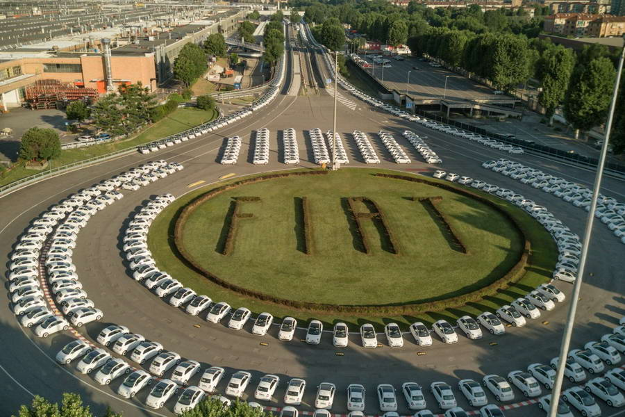 Fiat 500 World Record Guinness