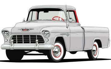 Chevy Trucks 1955 3124 Series Cameo Carrier