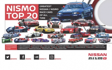 Nissan and NISMO Top 20 Race Cars Infographic