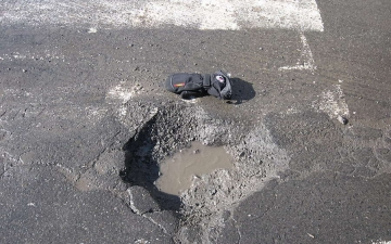Puddle in the street 18