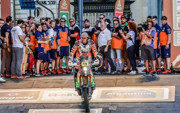 Laia Sanz _ Team KTM 450 RALLY Podium Dakar 2017 31 11