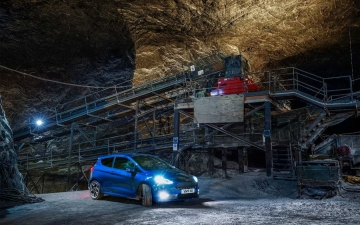 Ford Fiesta ST in a salt mine 10