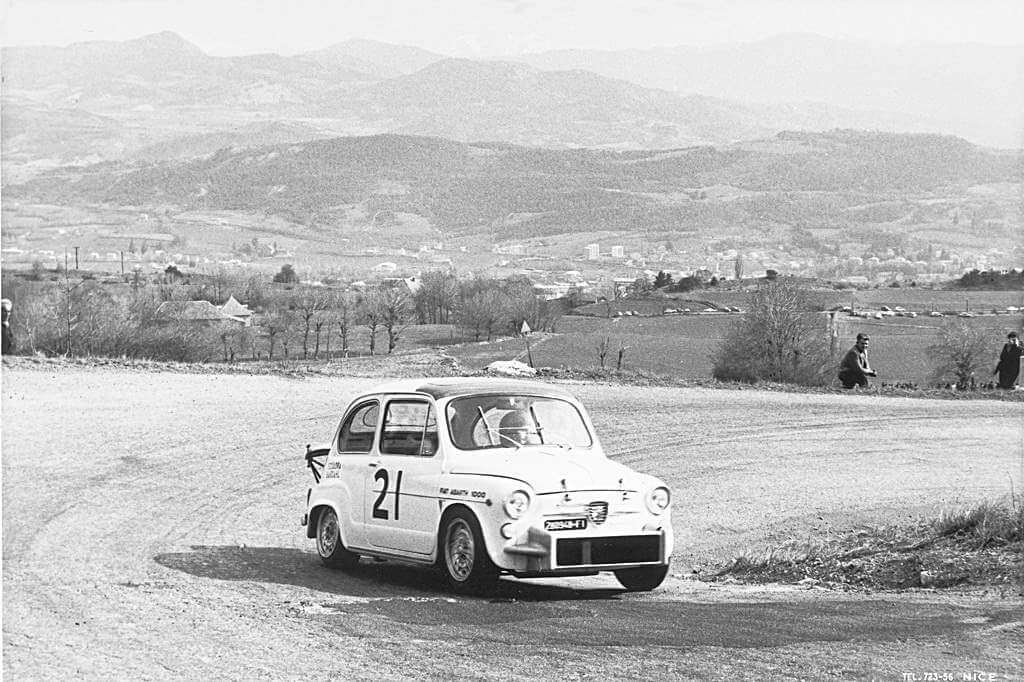 Abarth black and white racing car