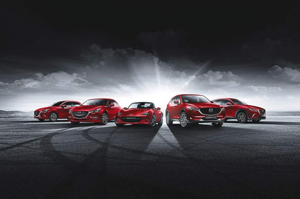 Mazda red car collection