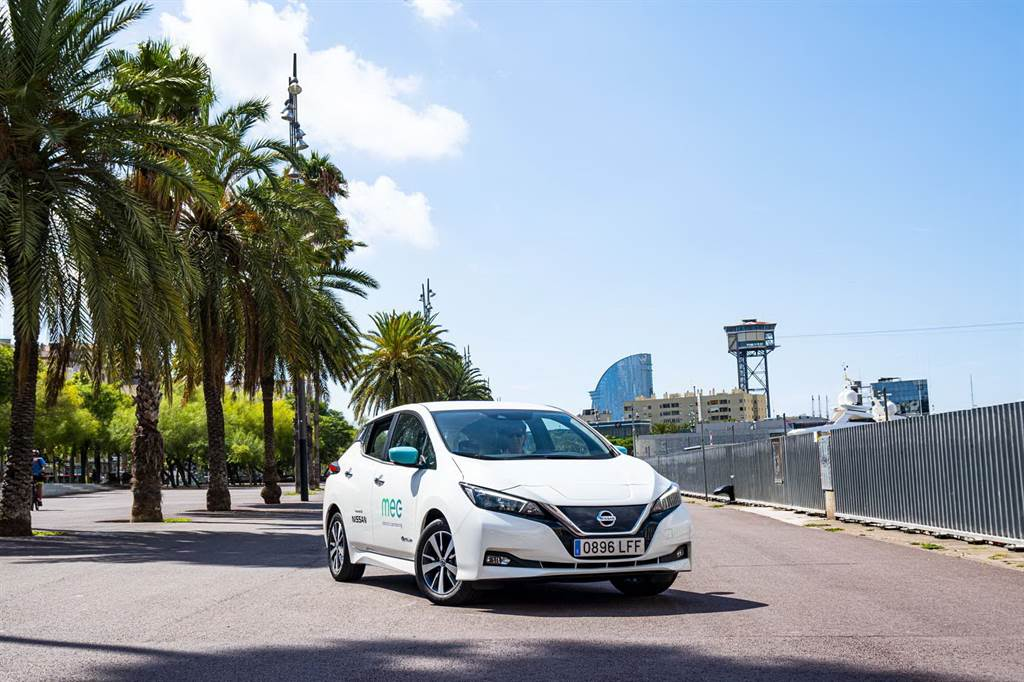 H MEC electric carharing χρησιμοποιεί το Nissan LEAF