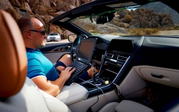 New BMW 8 Cabrio Death Valley 16