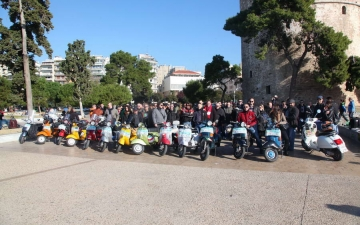 VESPA CLUB X-MAS CHARITY RIDE 121216