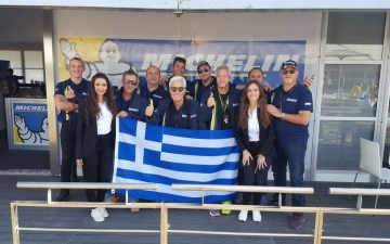 Greek team at VIP village